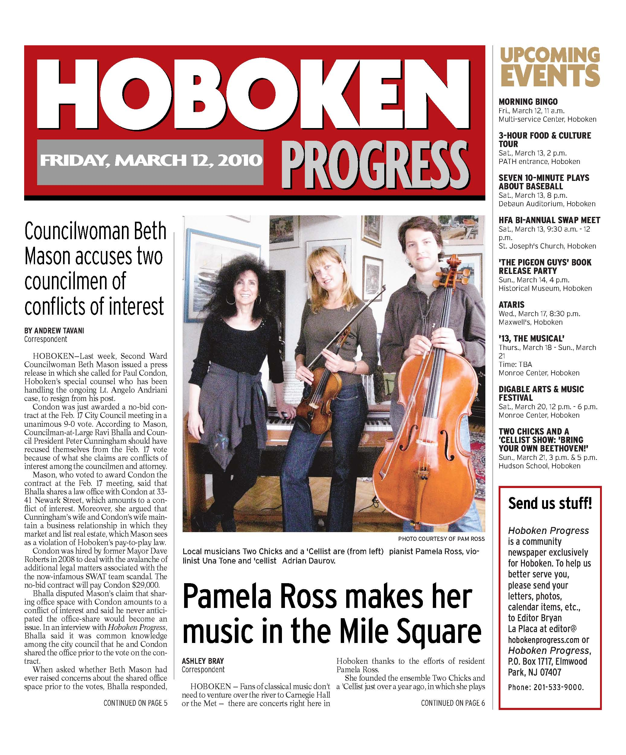 Pamela Ross makes her music in the Mile Square -Page 1